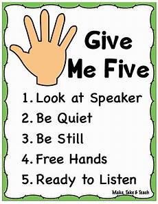 Give Me Five Rules The Importance Of Teaching Procedures In The Classroom