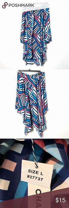 Chances R Designs Chances R Nwt Mullet Skirt Size Large Striped New With