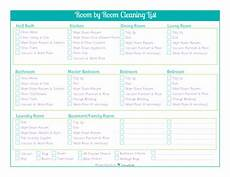 Cleaning Checklist By Room Day 18 Room By Room Cleaning Checklists Scattered Squirrel