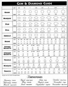 Actual Gemstone Size Chart 29 Printable Diamond Size Charts Amp Diamond Color Charts