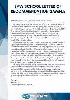 How To Write Law School Letter Of Recommendation Professional Law School Letter Of Recommendation Sample