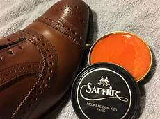 What Color Shoe Polish For Light Brown Shoes Light Brown Saphir Shoe Polish Appears Orange Ask Andy