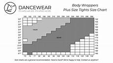 Tights Size Chart Body Wrappers Plus Size Tights Size Chart Dancewear Online