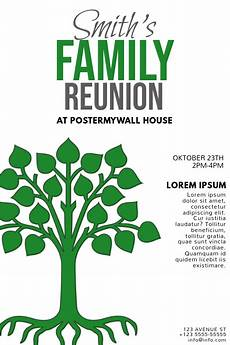 Family Reunion Flyers Templates Copy Of Family Reunion Poster Template Postermywall
