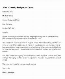 Sample Maternity Letter Free 5 Sample Maternity Resignation Letter Templates In