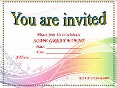 Invitation Template Word Free Image Result For Blank Invitation Templates For Microsoft