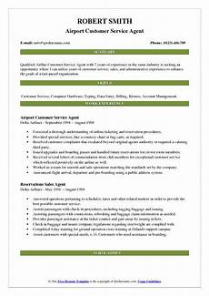 Airline Customer Service Agent Resume Airport Customer Service Agent Resume Samples Qwikresume