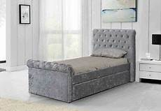 brand new 3ft single crushed velvet fabric bed frame