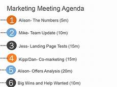 Marketing Meeting Agenda How To Run Marketing Team Meetings That Don T