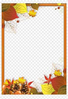 Free Fall Borders For Word Transparent Fall Frame With Leaves Gallery Png Png