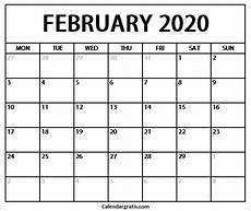 february 2020 calendar events printable february 2020 calendar template holidays