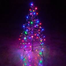 Wire Christmas Tree With Led Lights Lighted Multicolor Led Outdoor Christmas Tree