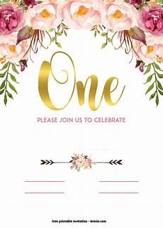 Birthday Invitations Free Templates Free Printable 1st Birthday Invitation Vintage Style