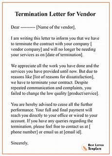 Vendor Termination Letter Termination Letter For Vendor Best Letter Template