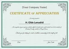 Employee Recognition Certificates Company Employee Appreciation Certificate Design Template