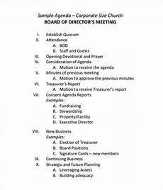 Board Agenda Template 4 Board Agenda Templates Free Sample Templates Agenda