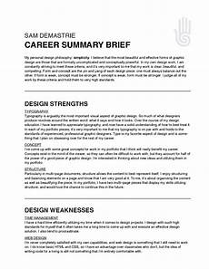 Career Overview Sample Des Sem S11 Sam Career Summary Brief