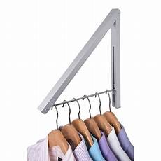 retractable clothes hanger stock your home folding clothes hanger wall mounted