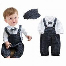newborn boy dress clothes newborn baby boy romper handsome plaid tie baby boys