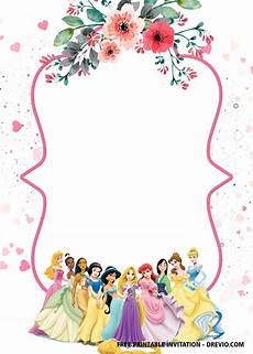 Disney Party Invitations Free Disney Princess Invitation Template For Your Little
