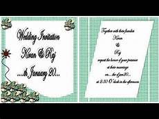 How To Make Invitations On Microsoft Word How To Make Wedding Invitation On Microsoft Word 2007