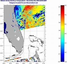 Sst Charts Rutgers Florida Coast Sea Surface Temperatures Saturday November