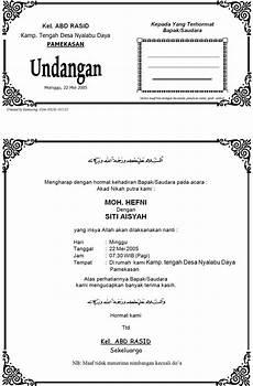 contoh undangan pernikahan formal contoh isi undangan