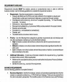 Sample Business Requirements Document Free 9 Business Requirement Document Samples In Ms Word Pdf