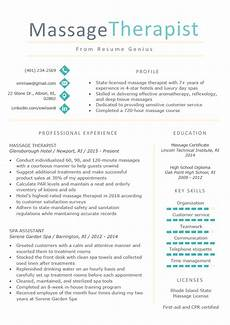 Spa Therapist Cv Therapist Resume Sample Amp Writing Tips Resume Genius
