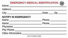 Medical Alert Cards Templates Template For Badge Free Medical Id Card Click To View
