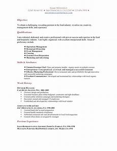 Resume For Restaurant Job Restaurant Resume