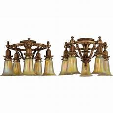 1925 Lighting Fixtures Pair Vintage 1925 Bronze Horn Amp Brannen 5 Light Fixtures
