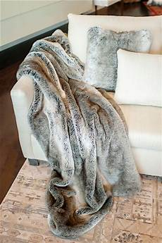 grey rabbit signature series faux fur throws faux fur