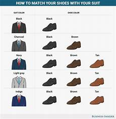Suit Color Matching Chart How To Pick Shoes For Any Color Suit Business Insider