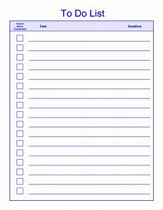 Things To Do Template Printable Things To Do List Template Edit Fill Sign Online