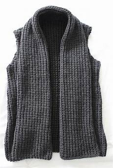 knitting vest knitting pattern chunky wide collar vest pdf knitting pattern