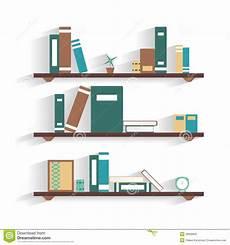scaffale per libri scaffale per libri con i libri illustrazione vettoriale