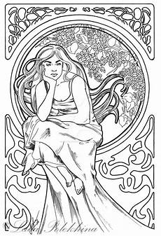 lilac nouveau by slightlymadart coloring book