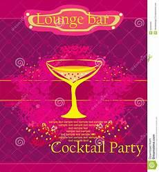 Cocktail Party Invitation Cocktail Party Invitation Card Stock Illustration