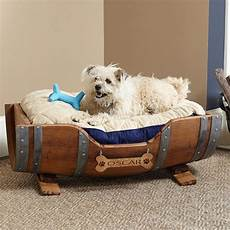 wine barrel personalized bed pet beds