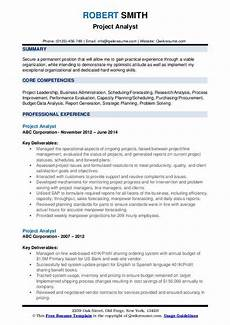 Project Analyst Resume Sample Project Analyst Resume Samples Qwikresume