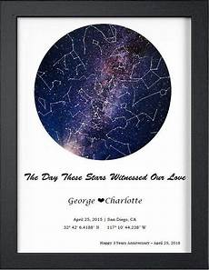 Star Chart For Date Custom Star Map By Date Digital Download Night Sky Poster