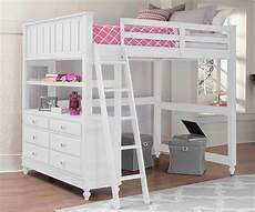 1045 size loft bed lakehouse collection white