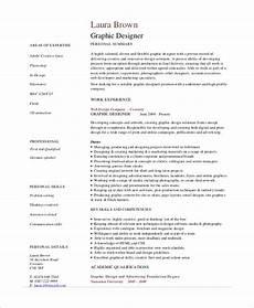 Resume Sample For Designers Free 7 Sample Graphic Design Resume Templates In Pdf
