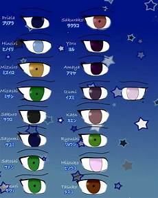 Naruto Eye Chart Naruto Oc Eye Chart Reference By Priala Sempai On Deviantart
