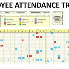 Attendance Tracking Program Free Employee Attendance Tracking Spreadsheet Db Excel Com