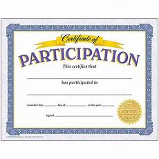 Free Certificates Of Participation Certificate Of Participation 30 Pk T 11303 Trend