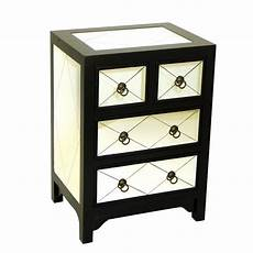 mirror 4 drawer accent chest in black 3520