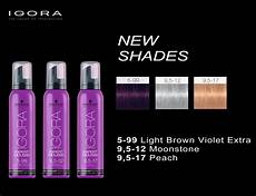 Schwarzkopf Professional Igora Color Chart Schwarzkopf Professional Igora Expert Mousse New Shades