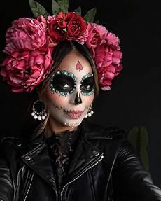 happy dia de los muertos flower crown and makeup by my